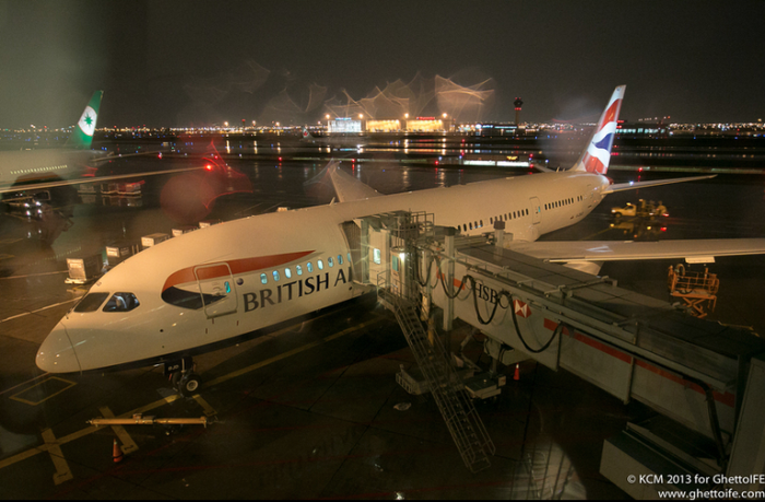 British Airways Boeing 787 at Toronto Pearson Airport- now to serve Nashville TN - Image, Economy Class and Beyond