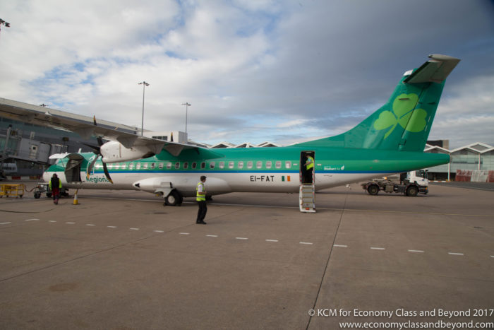 Aer Lingus Regional ATR72-600 at Birmingham Airport - Image, Economy Class and Beyond