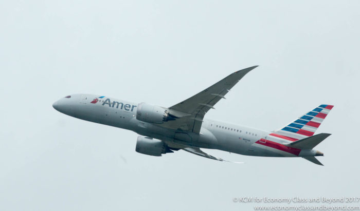 American Airlines Boeing 787 Departing Heathrow - Image, Economy Class and Beyond