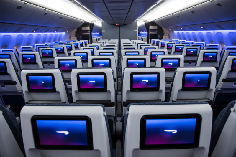 LONDON, UK: World Traveller cabin on a British Airways Boeing 777 at London Gatwick on 04 March 2018 (Picture by Nick Morrish/British Airways)