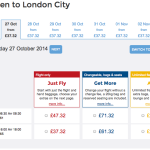 FlyBe Aberdeen to London City Fares