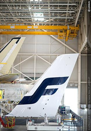 Finnair A350 Tail - Image, Airbus via Finnair