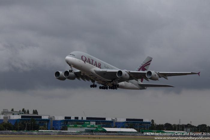 Qatar Airways Airbus A380 - Canon Lens review