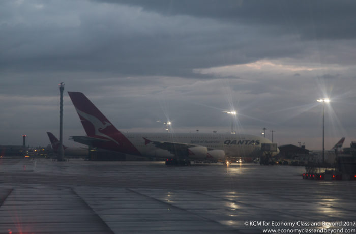 Qantas Airbus A380 at London Heathrow - Image, Economy Class and Beyond