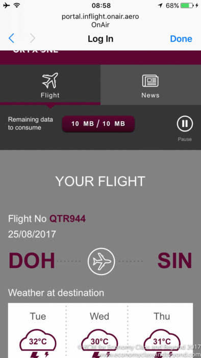 Qatar Airways A350 QR944 Hamad International Doha to Singapore Changi