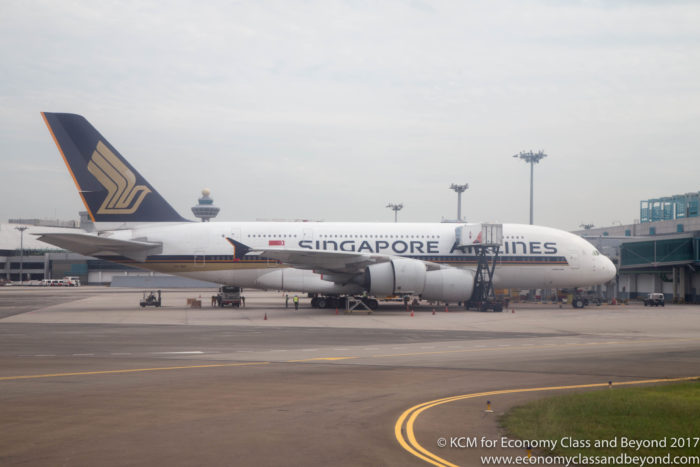 Singapore Airlines A380 at Singapore Changi Airport - Image, Economy Class and Beyond