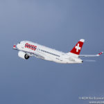 Swiss Bombardier C Series CS100 leaving Zurich - Image, Economy Class and Beyond