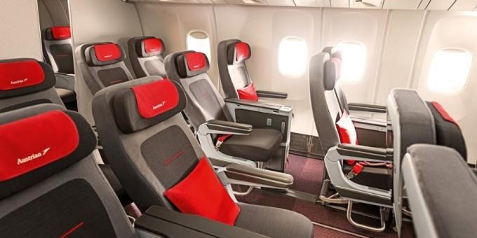 Austrian airlines b777 premium economy - image, Austrian Airlines