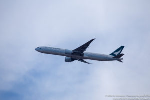 Cathay Pacfic Boeing 777-300ER departing Chicago O'Hare - Image, Economy Class and Beyond