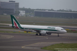 Alitalia Airbus A320 at Amsterdam Schiphol Airport - Image, Economy Class and Beyond