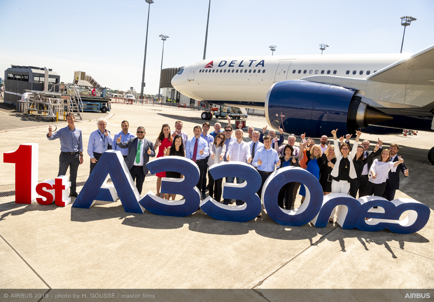 Delta takes delivery of its first A330-900neo