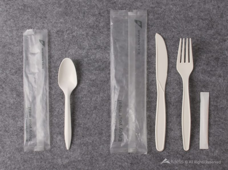 Icelandair cornstarch based cutlery - Image, Icelandair/Kaelis