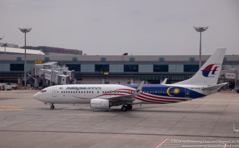 Malaysia Airlines Boeing 737-800 Negaraku at Singapore Changi - Image, Economy Class and Beyond